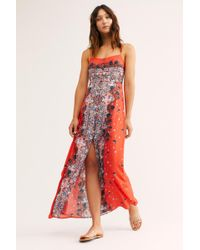 Free People - Morning Song Printed Maxi Dress - Lyst