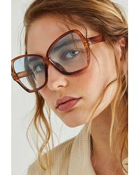 Free People Oversized Bowtie Sunglasses - Multicolour