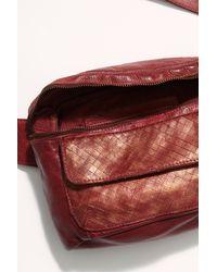 Free People Corrinne Snake Belt Bag - Red