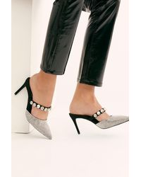Free People Private Event Mule By Jeffrey Campbell - Black