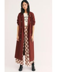 Free People Sweet Melody Trench Coat - Multicolour