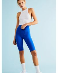Free People Must Have Bike Shorts - Blue