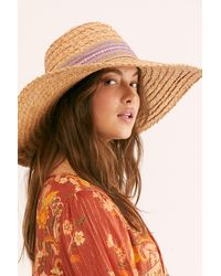 Free People Macarena Wide Brim Straw Hat By 'ale By Alessandra - Brown