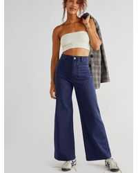 Free People Rolla's Sailor Jeans - Blue