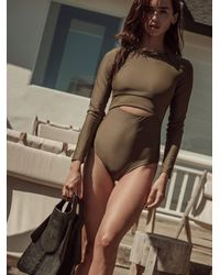 Free People Twosix Dex One-piece Surf Suit - Green