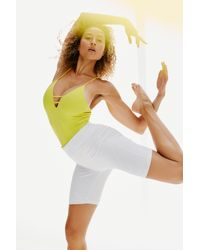 Free People Dance All Day Bodysuit By Fp Movement - Yellow