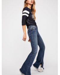 Free People - Seamed Flare Jeans - Lyst