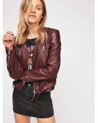 Free People - Victory Leather Moto Jacket - Lyst
