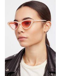 Free People - Vienna Cat Eye Sunglasses - Lyst