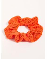 Free People Fishnet Scrunchie - Orange