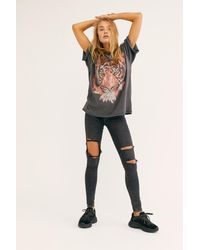 Free People Oversized Tiger Tee By Wrangler - Black