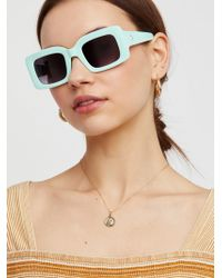 Free People | Babetown Square Sunglasses | Lyst