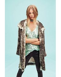 Free People Soft And Slouchy Fur Cardi - Brown