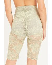 Free People Bianca Lace Bike Short By Intimately - Natural