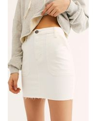 Free People - Wrangler Utility Mini Skirt - Lyst