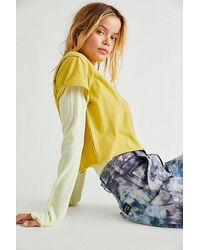 Free People The Perfect Tee - Yellow