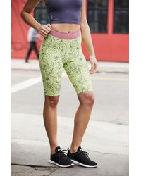 Free People Fired Up Bike Shorts By Fp Movement - Green