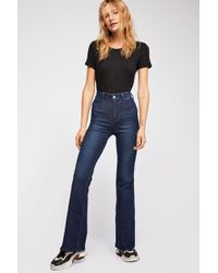 Free People Brooke Flare Jeans By We The Free - Blue