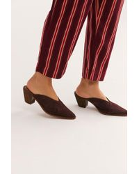 Free People Suede Anya Mule By Fp Collection - Red