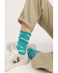 Free People Wave Tie-dye Socks - Green
