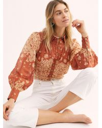Free People Bet On My Love Blouse - Brown