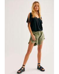 24d8159518 Free People One Teaspoon Womens Frankies Cut-off Shorts in Blue - Lyst