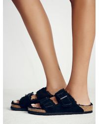 Free People - Arizona Shearling Birkenstock Sandal - Lyst