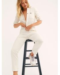 Free People Lee Union Coverall - White
