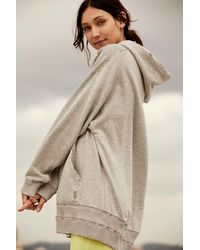 Free People Rivalry Hoodie By Fp Movement - Grey