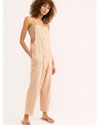 Free People Sezanne Jumpsuit By Endless Summer - Natural