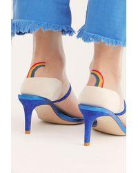 Free People Rainbow Brite Sheer Crew Socks By Hansel From Basel - Multicolor