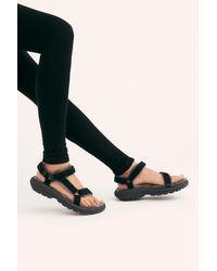 Free People Hurricane Shearling Teva Sandals - Black