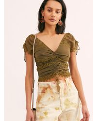 Free People Cecilia Corset Top - Green