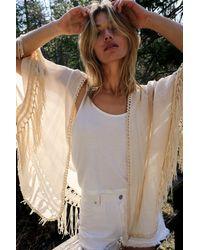 Free People Sundial Crochet Kimono - White