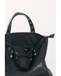 Free People Ellie Leather Studded Backpack By Fp Collection - Black