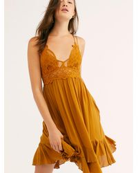 Free People Fp One Adella Slip - Chemise - Orange