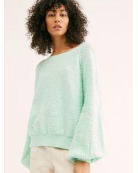 Free People Found My Friend Sweatshirt - Green