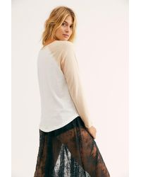 Free People Alabama Shakes Rise To The Sun Raglan By Daydreamer - Natural