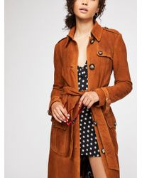 Free People - We The Free Larsen Suede Trench - Lyst