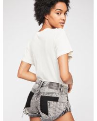 Free People - Oneteaspoon Bandit Denim Cutoff Shorts - Lyst
