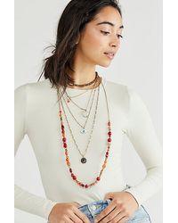 Berry Wonderland Evil Eye Layered Necklace - Multicolour