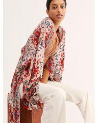 Free People Little Wing Mix Print Kimono - Natural