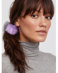 Free People - Mini Pom Hair Tie Duo - Lyst