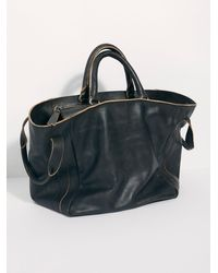 Free People Leslie Leather Satchel By Fp Collection - Black