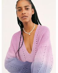 Free People Come Together Tunic - Purple