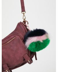Free People Xl Faux Fur Pompom Bag Charm - Multicolour