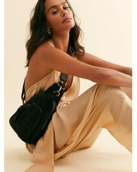 Free People Hudson Suede Sling Bag By Fp Collection - Black
