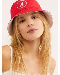 Free People Kangol Cotton Bucket Hat - Red