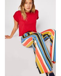 Free People - Just Float On Printed Flare Jeans By We The Free - Lyst