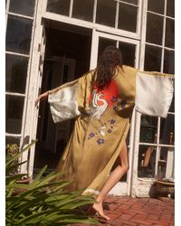Free People Rising Sun Maxi Kimono - Multicolour